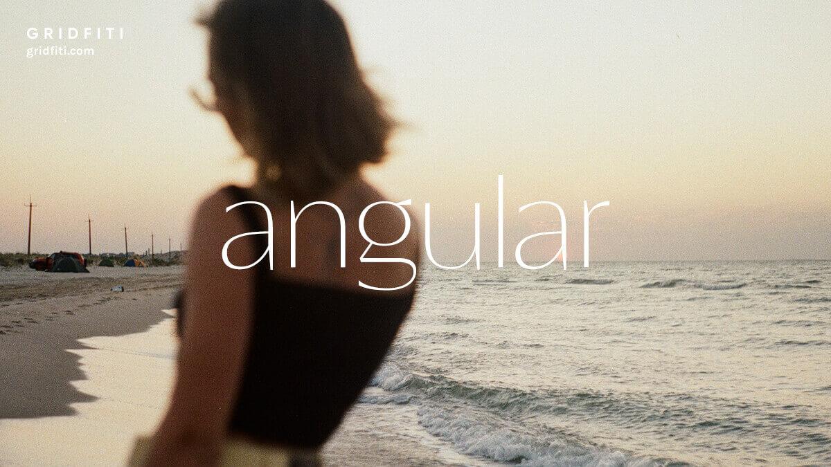 Angular Fashionable Sans Serif Font