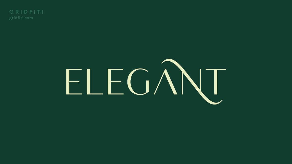 Elegant Sans Serif Font