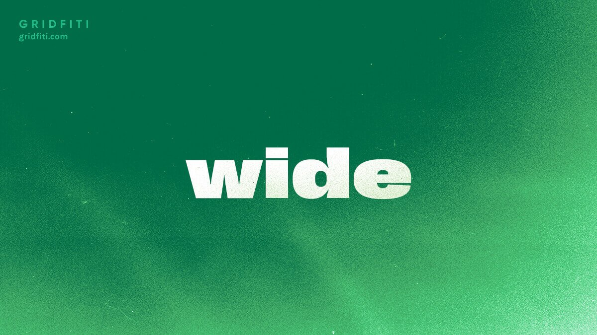 Wide Aesthetic Font