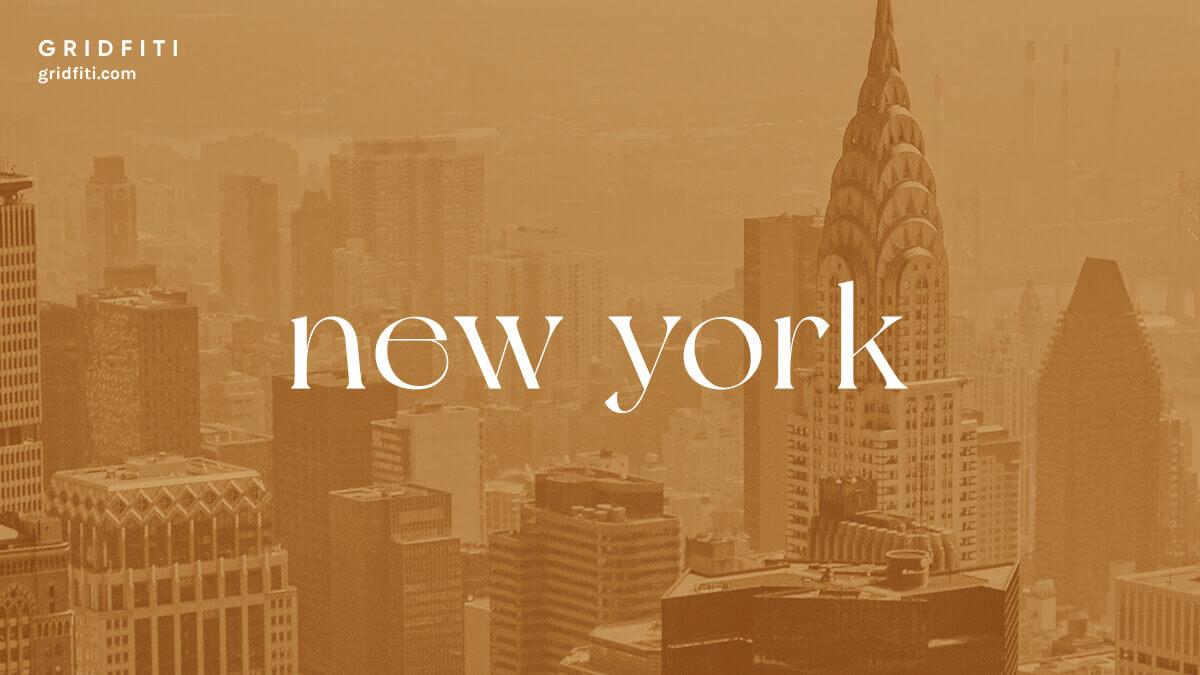 New York Elegant Serif Font