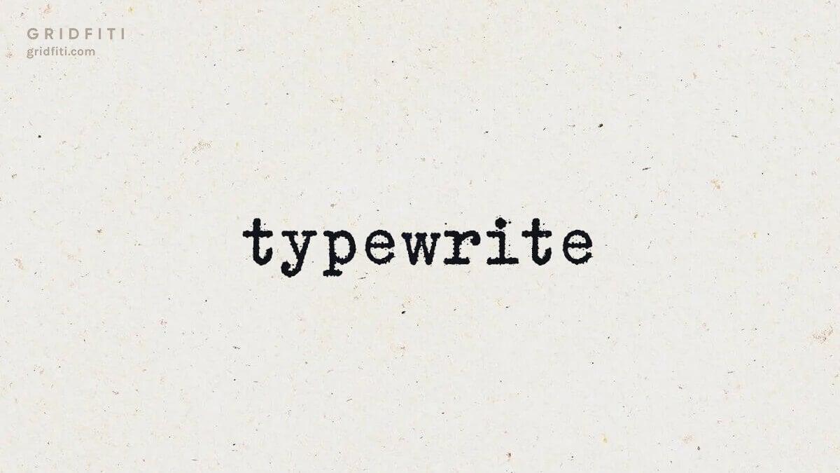Aesthetic Typewriter Font