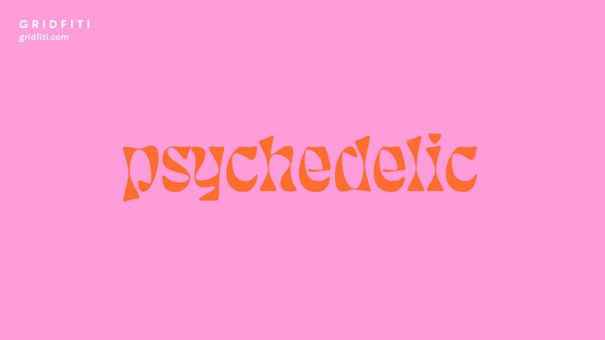 Psychedelic Aesthetic Font