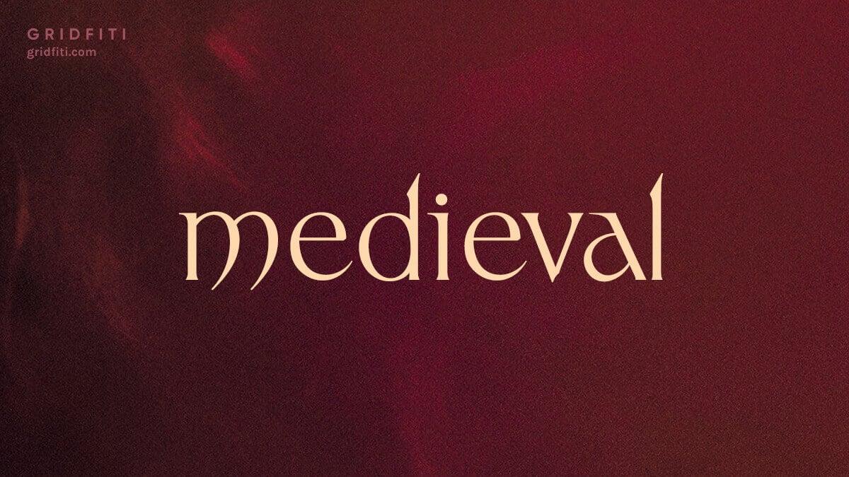 Modern Medieval / Celtic Aesthetic Font