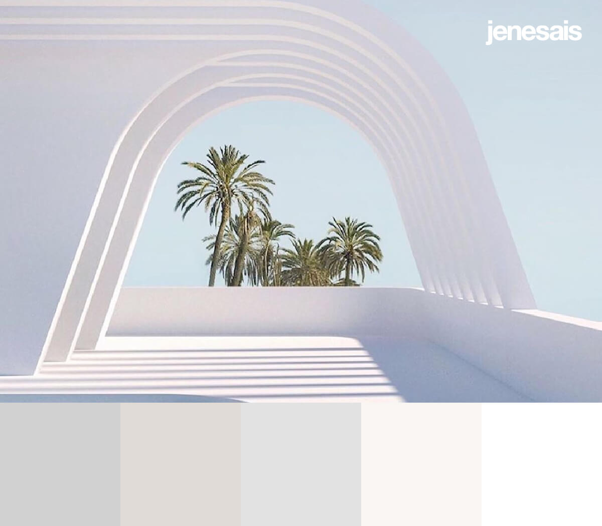 Aesthetic White color palette