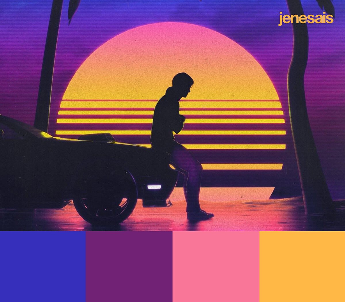 Outrun Aesthetic Color Palette