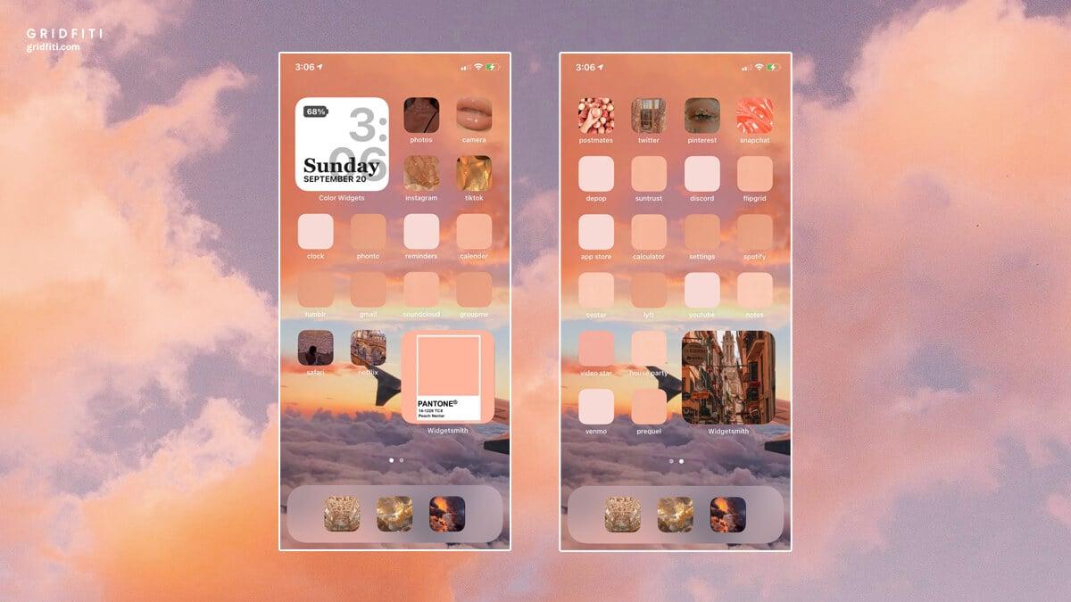 Cloud Aesthetic iOS Layout Ideas
