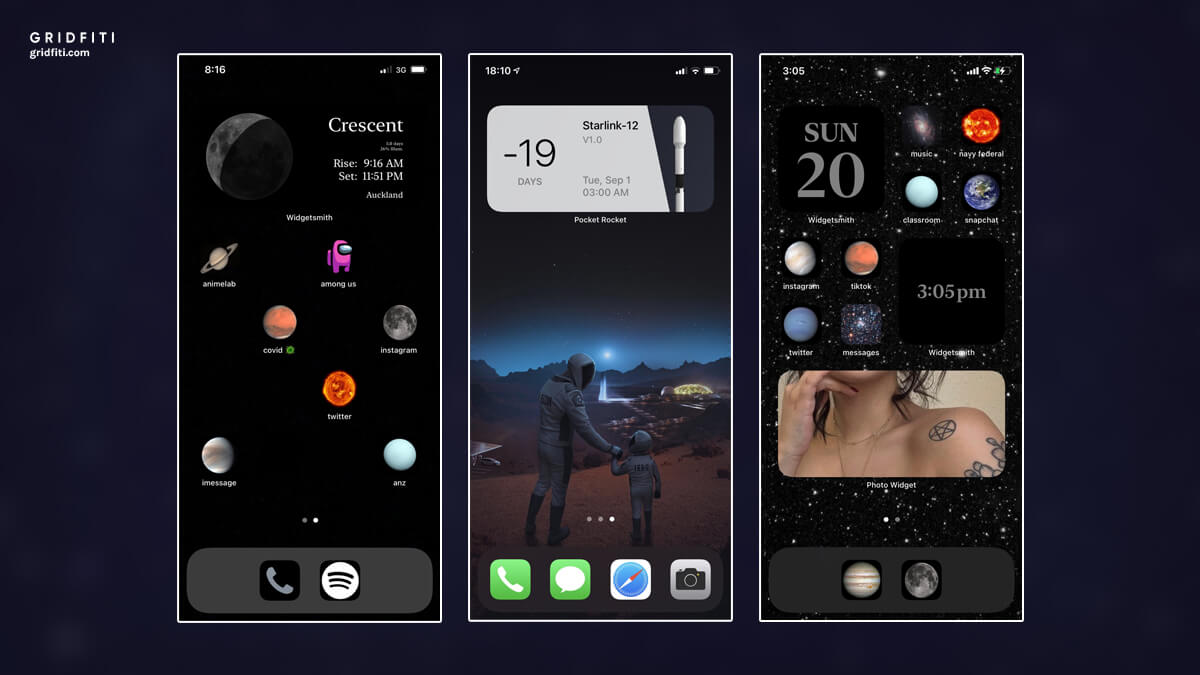 Space & Galaxy Home Screen Design for iOS 14