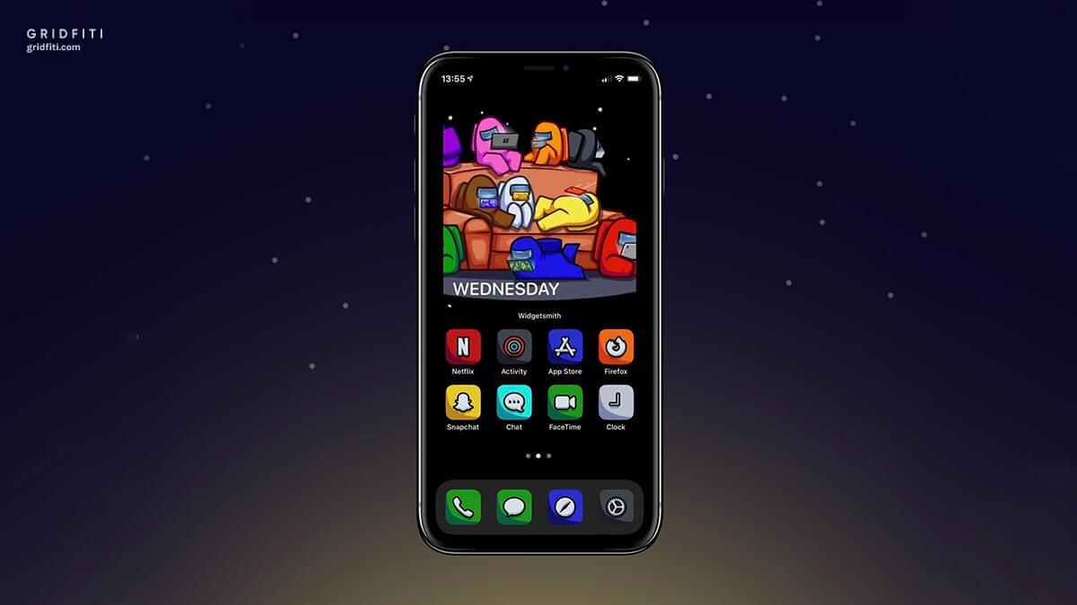 Among Us Gaming iOS 14 Design