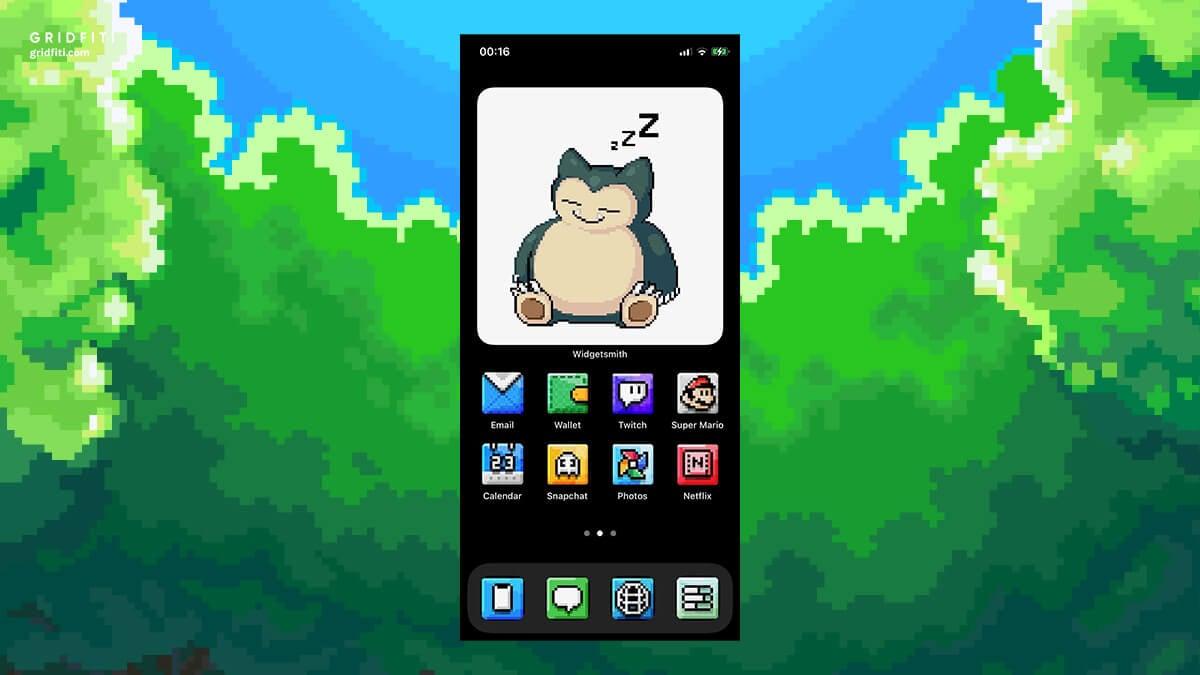 Pokemon app home screen design iOS 14