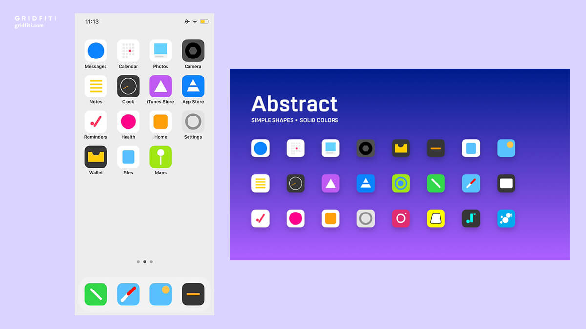 Abstract Social Media & App Covers for iOS 14