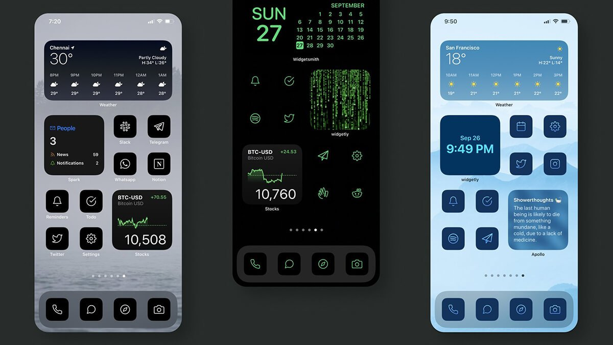 Minimal Colored iOS Icon Covers for Apps