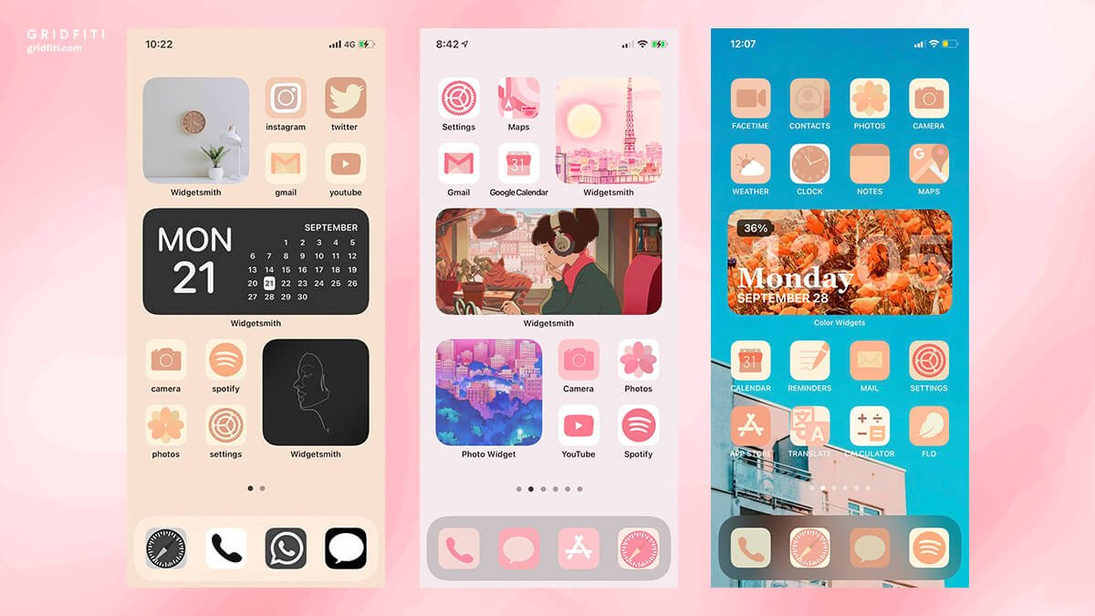 Hand-Illustrated Aesthetic Color Themes for iPhone & iPad