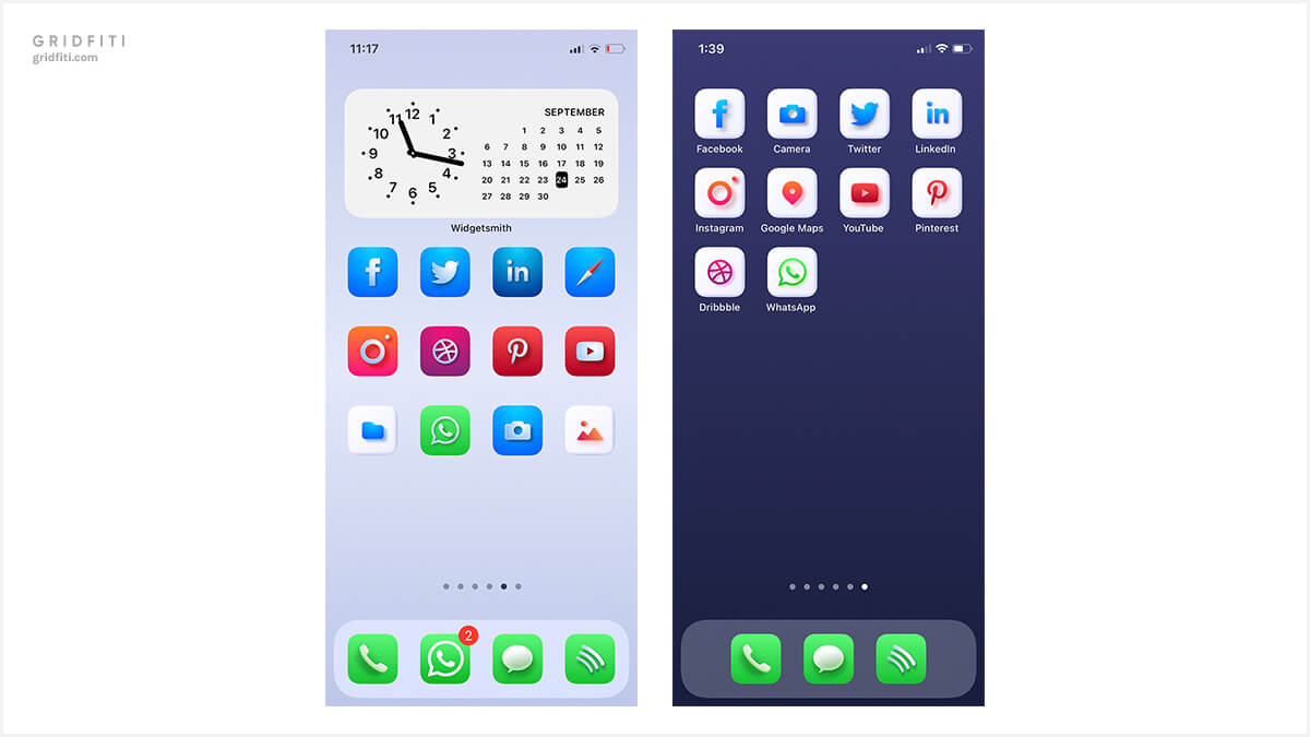 macOS Big Sur inspired home screen inspo for iOS 14