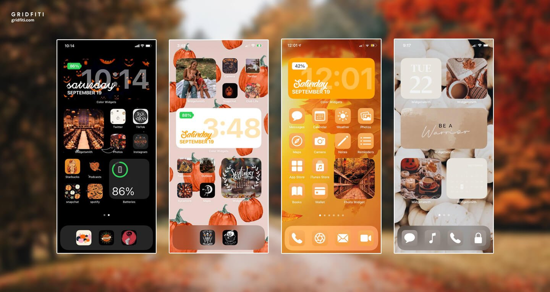Fall & Halloween iOS 14 Design Ideas