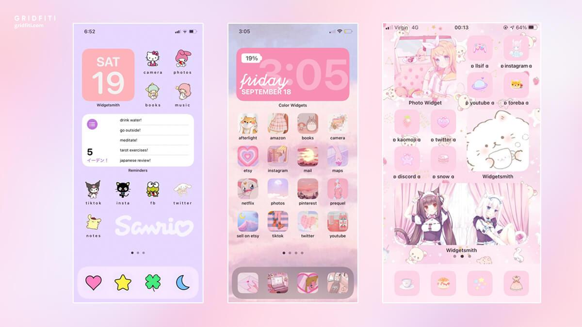 Kawaii iOS Widgets & iPhone Home Screen