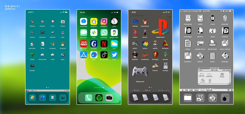 Nostalgia iOS iPhone Layout Ideas