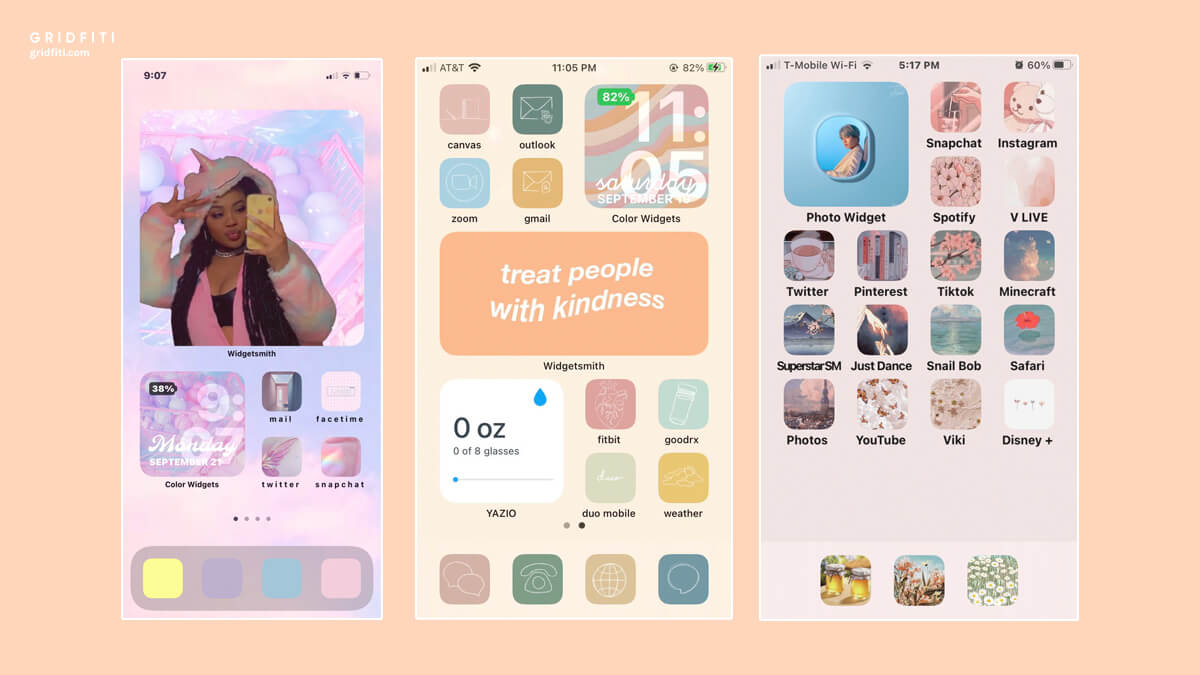 Pastel Aesthetic iPhone Home Screen Ideas