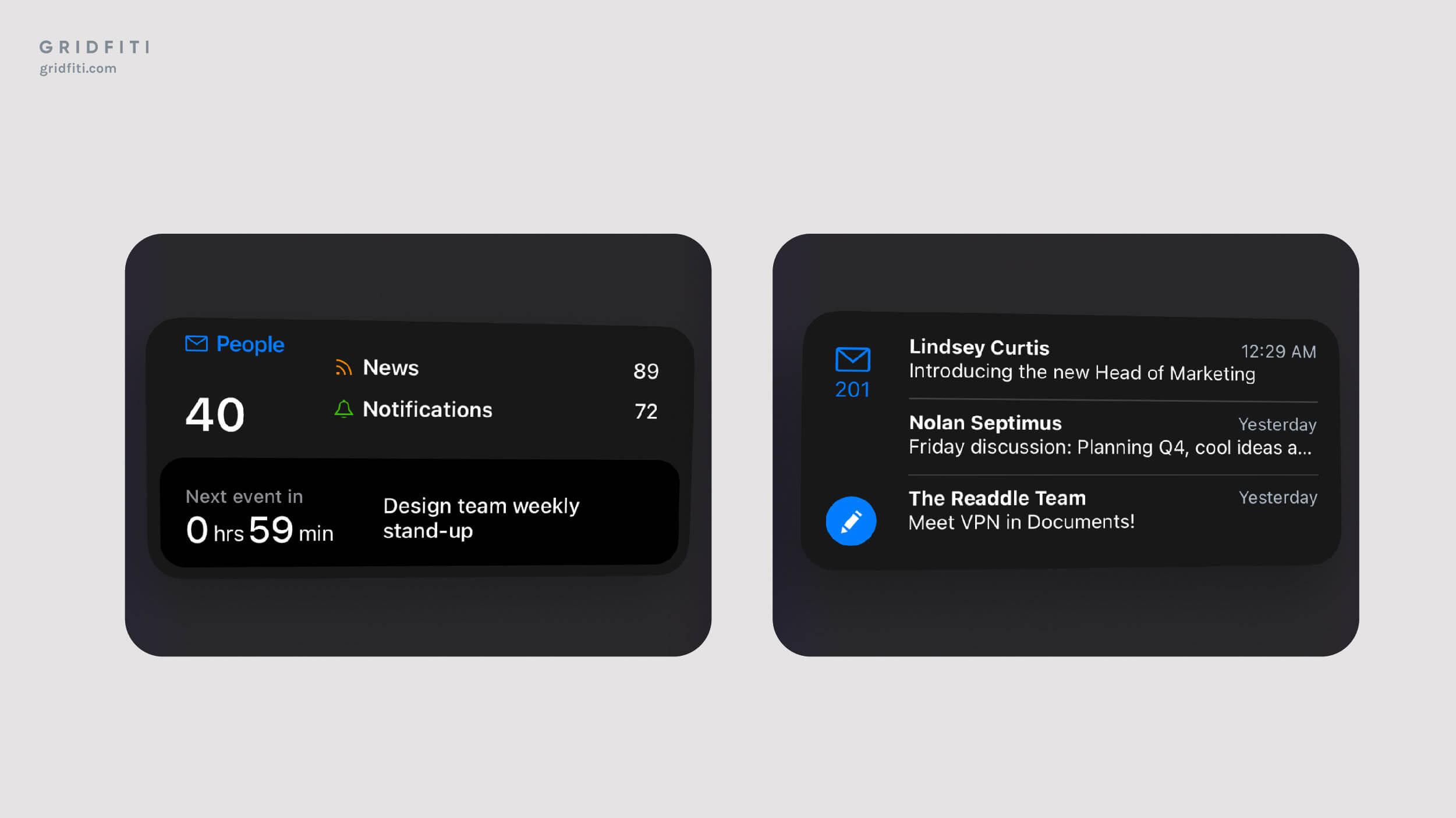Spark Email App Widget Ideas iOS