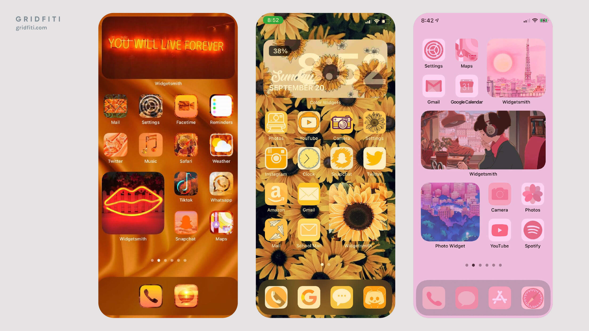 Aesthetic Color Scheme Ideas for iOS 14 Widgets