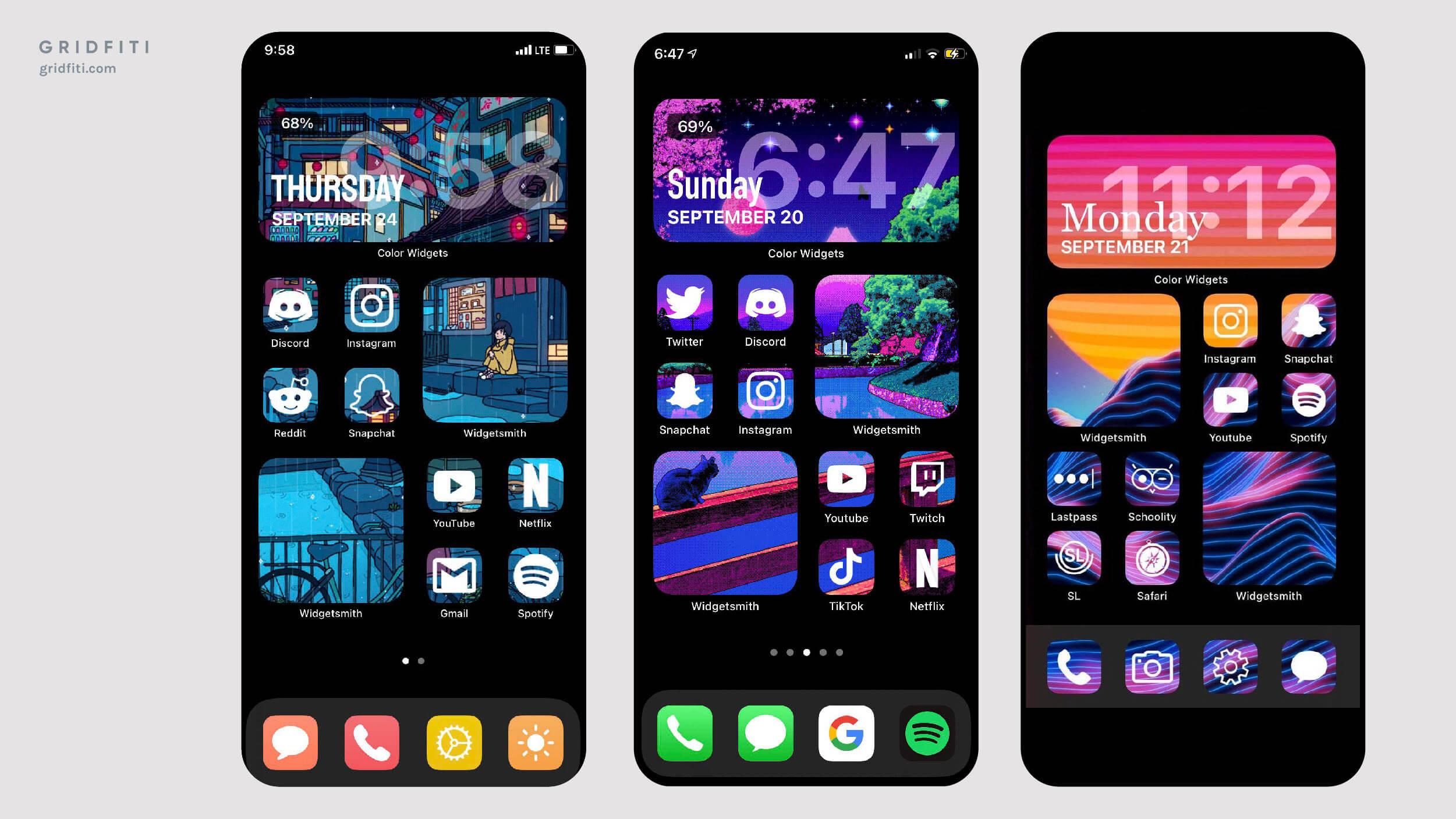 split photo iOS 14 widget layout idea