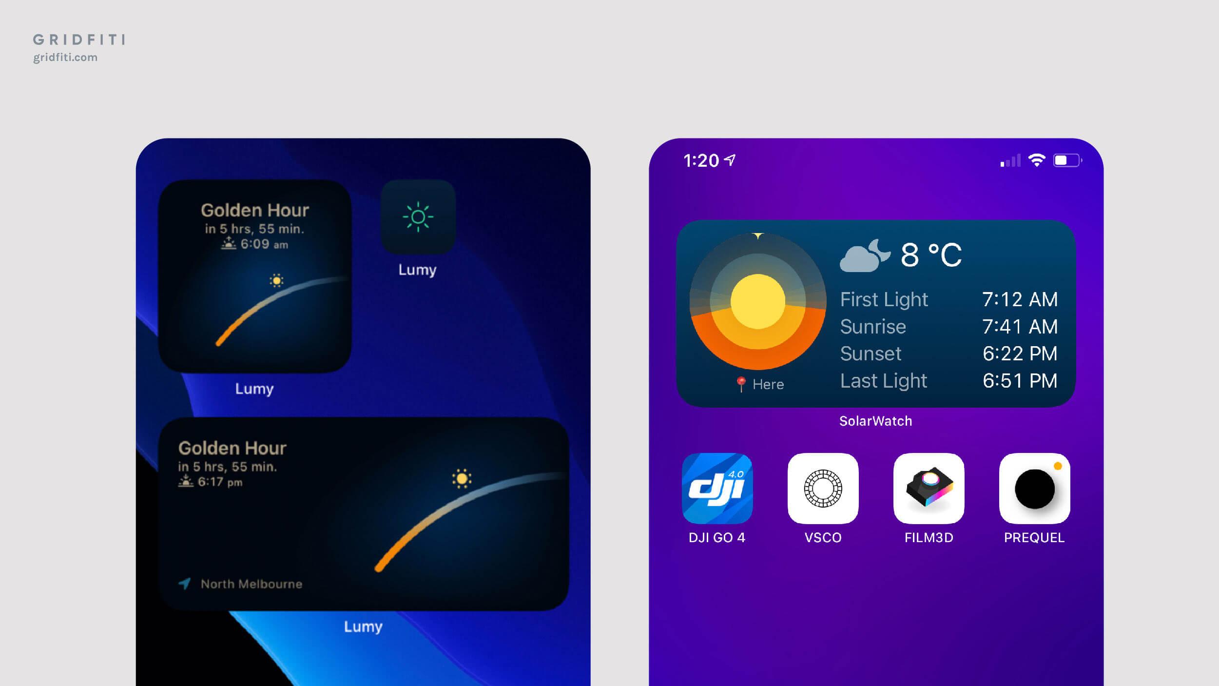 Sunrise & Sunset Widget App iOS Idea