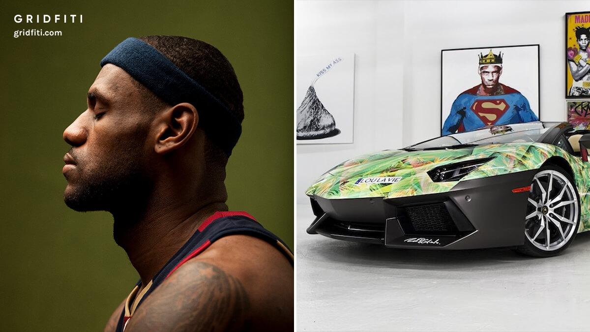 Lebron James Car - Nike Lamborghini