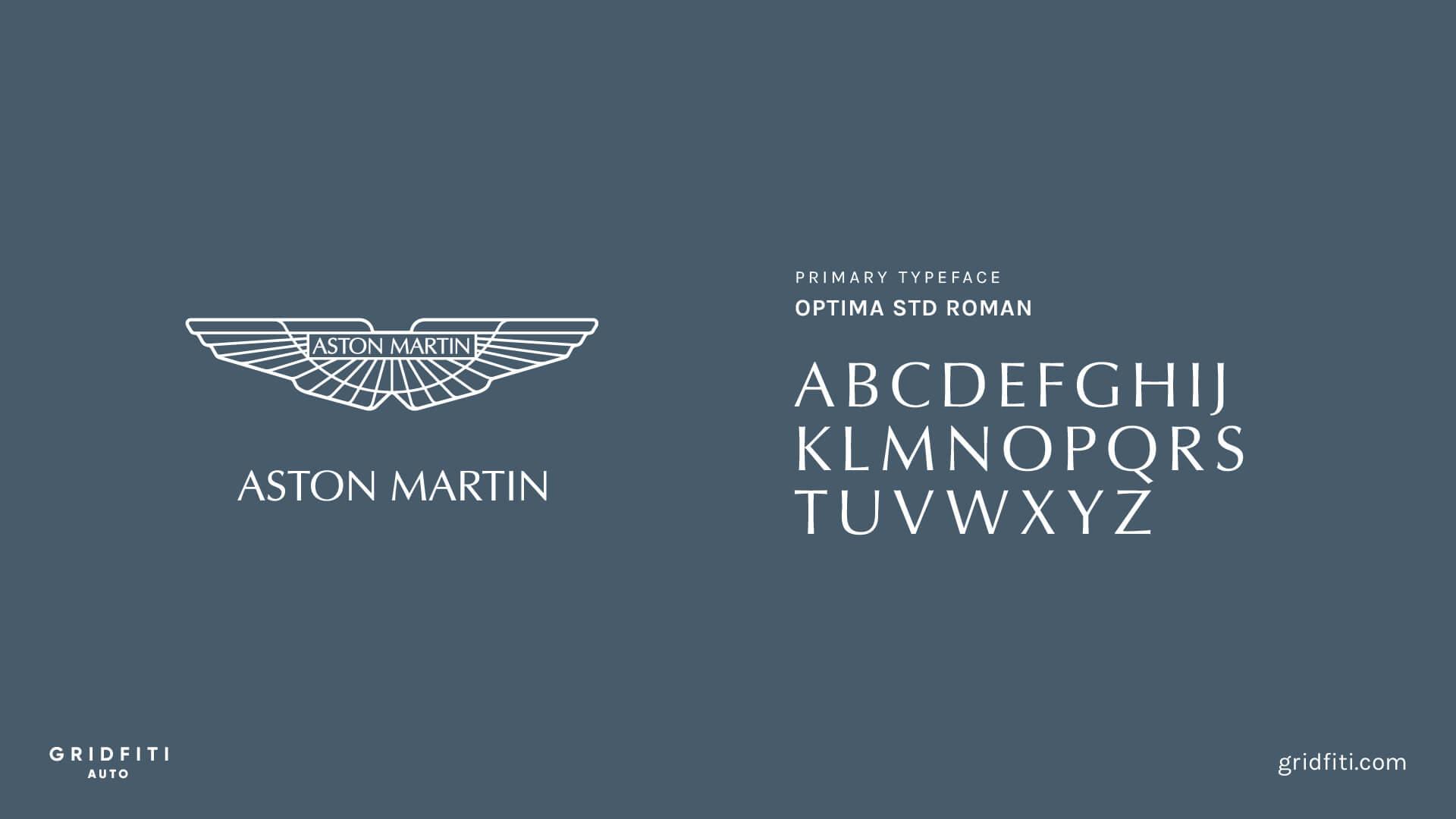 Aston Martin Car Font