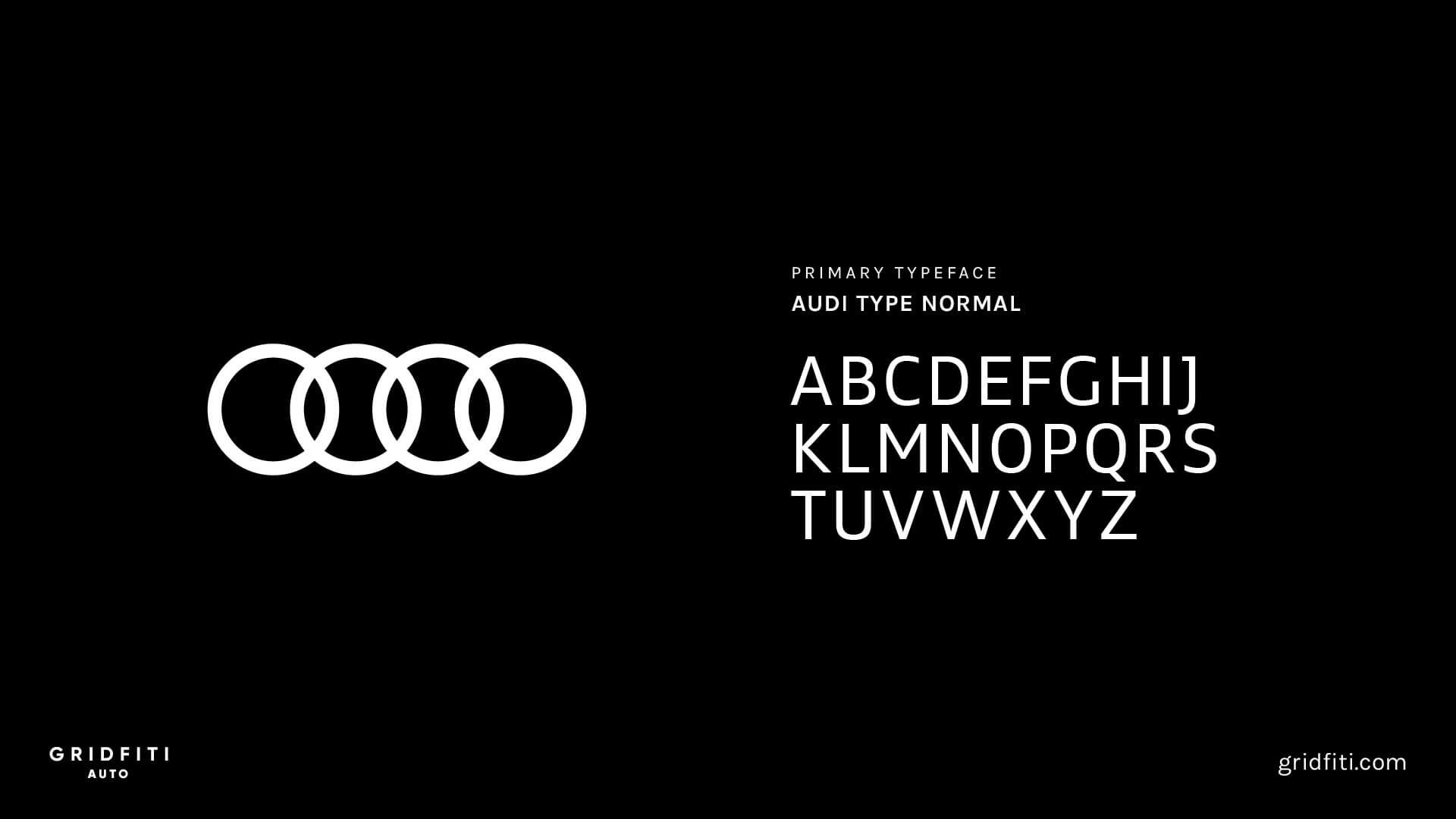 Audi Car Font