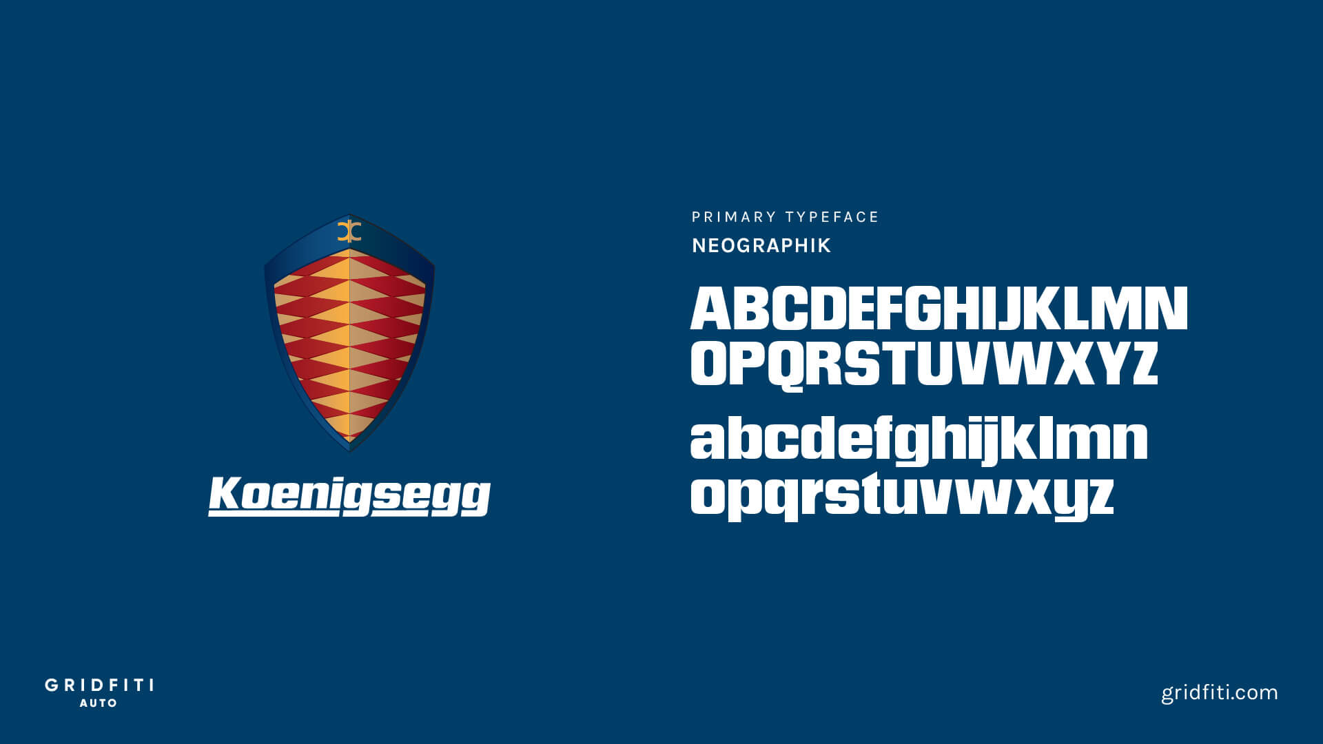Koenigsegg Car Brand Font