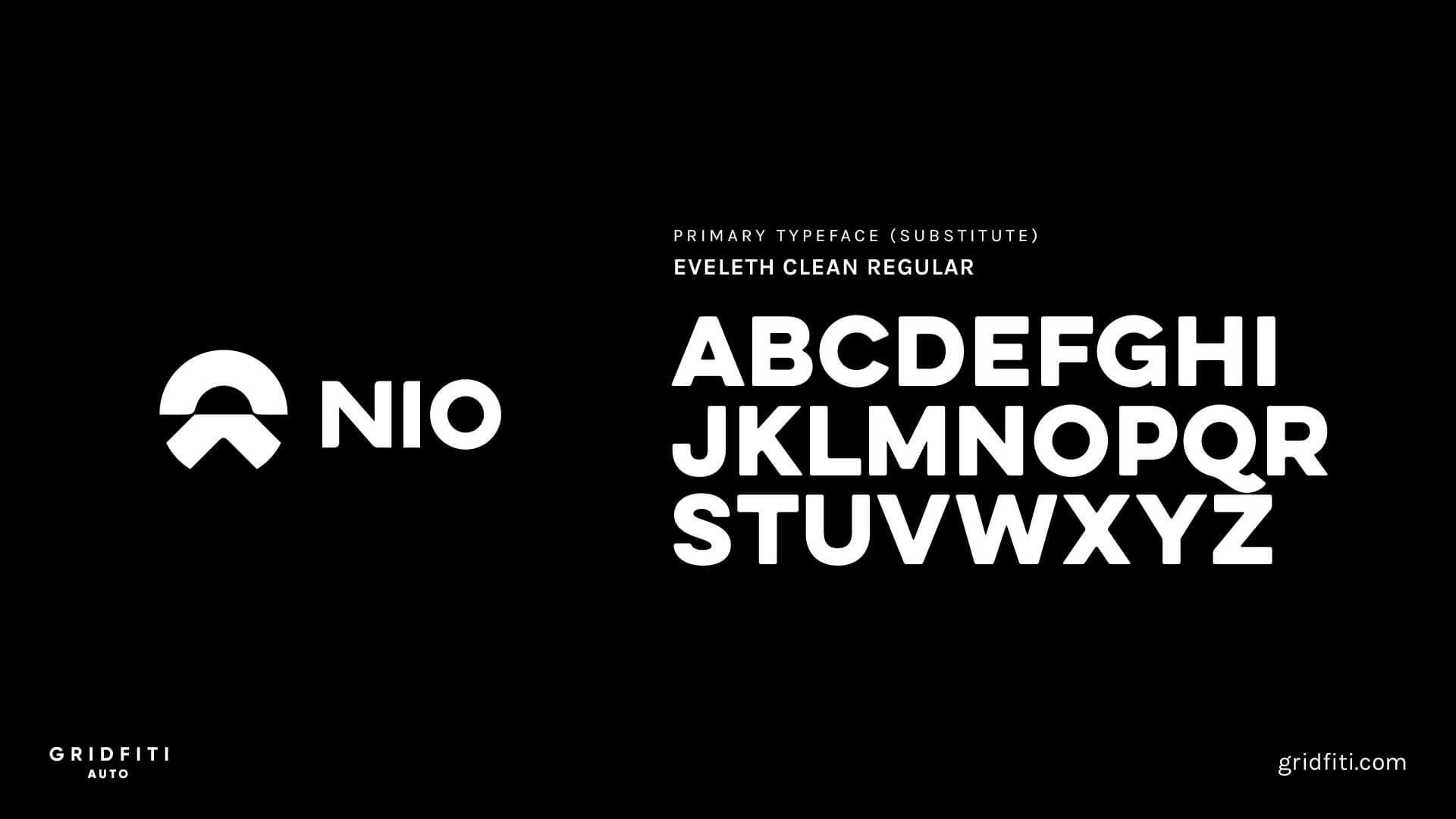 NIO Car Font