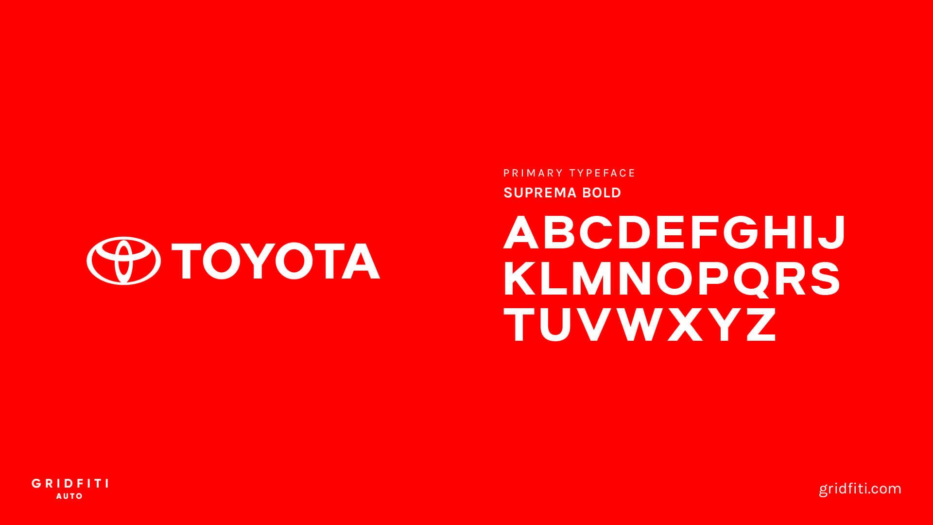 Toyota Font