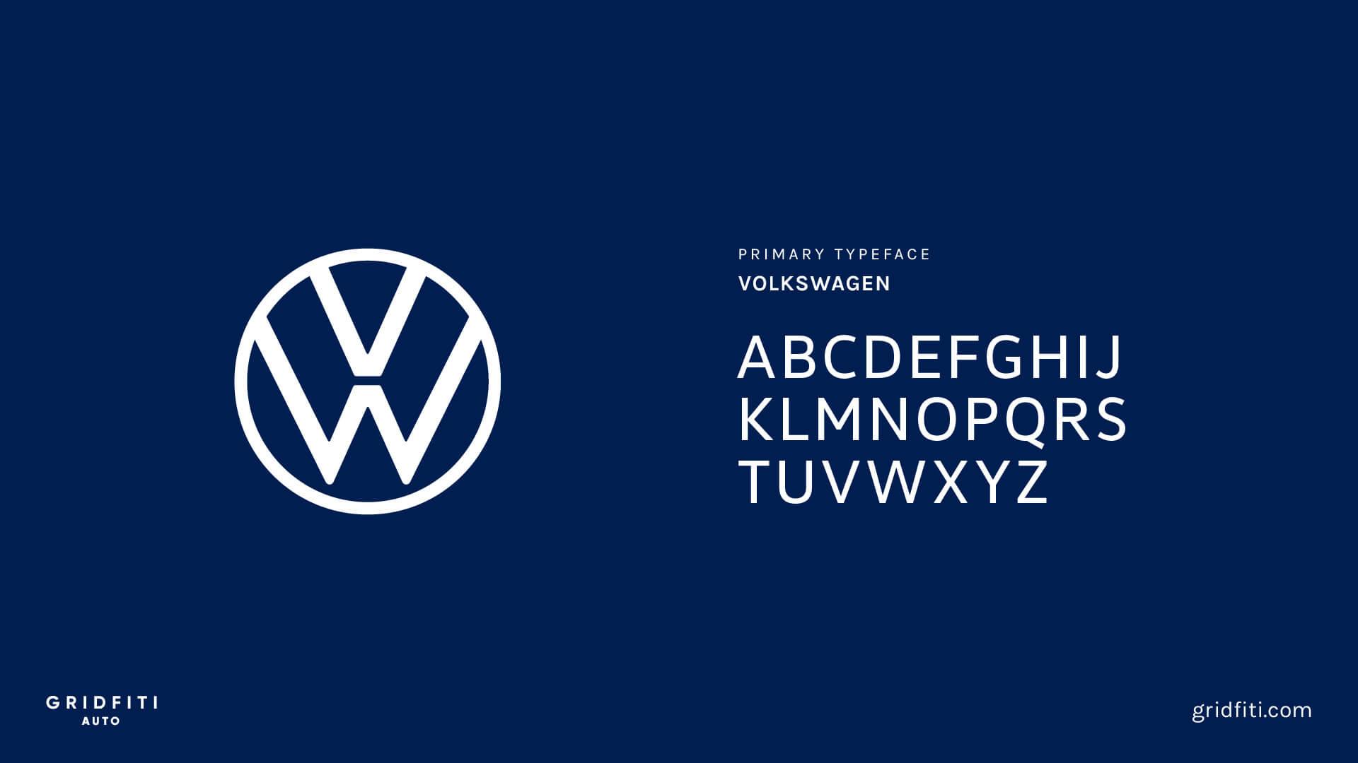 Volkswagen Font
