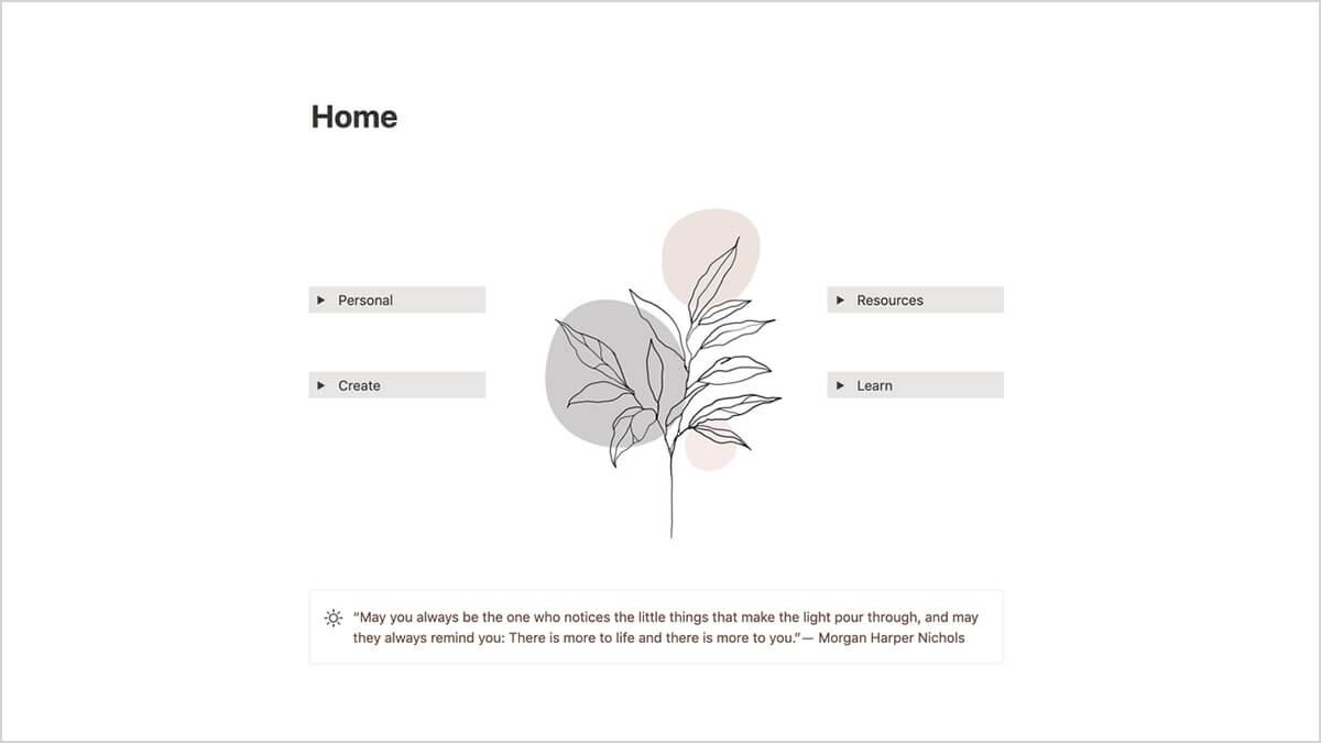 Minimalist Notion Homepage