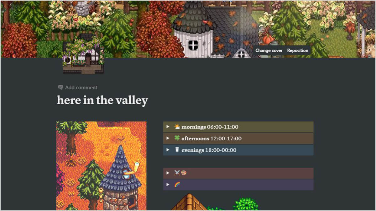 Stardew Valley-Inspired Notion Theme