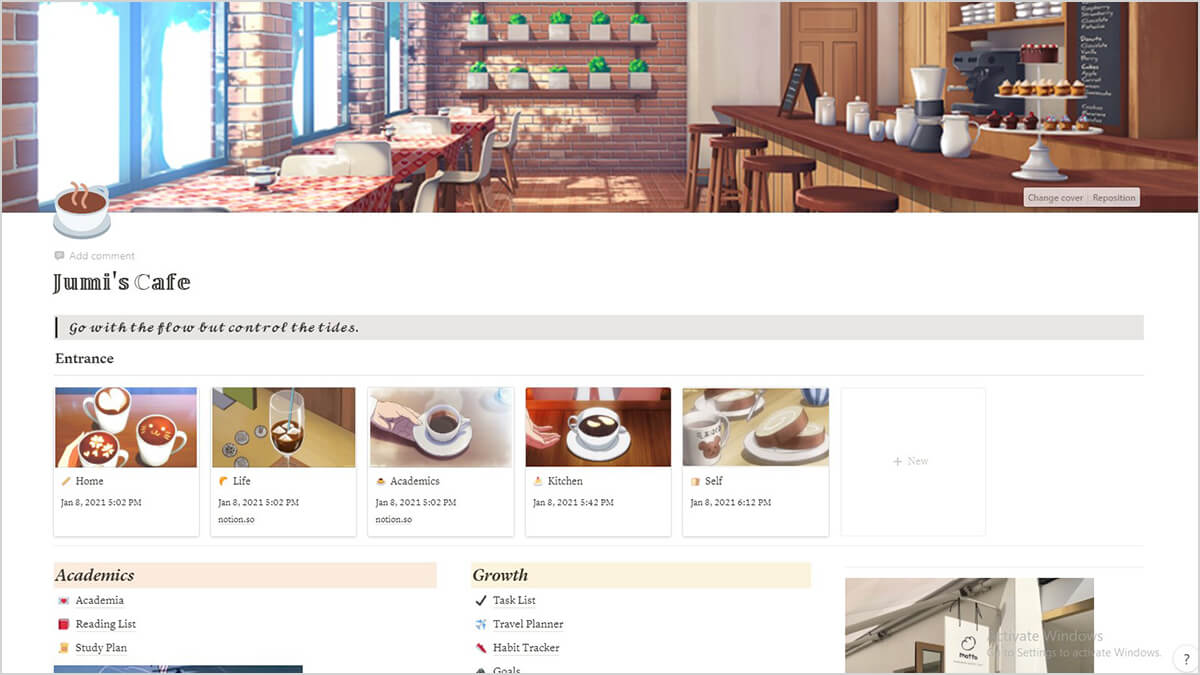 Study Cafe Theme for Notion