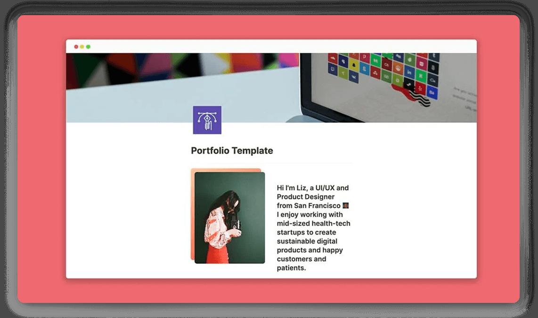 Notion Product Design Portfolio Template