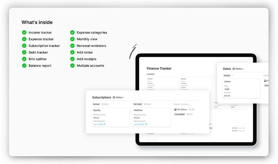 Personal Finance Tracker for Notion