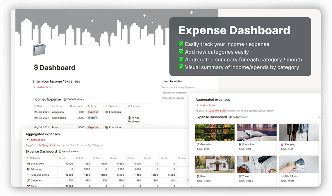 Notion Expense Dashboard