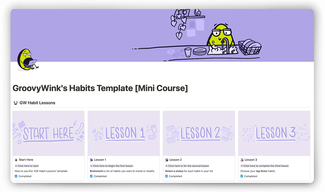 Notion Habit Tracker and Mini Course