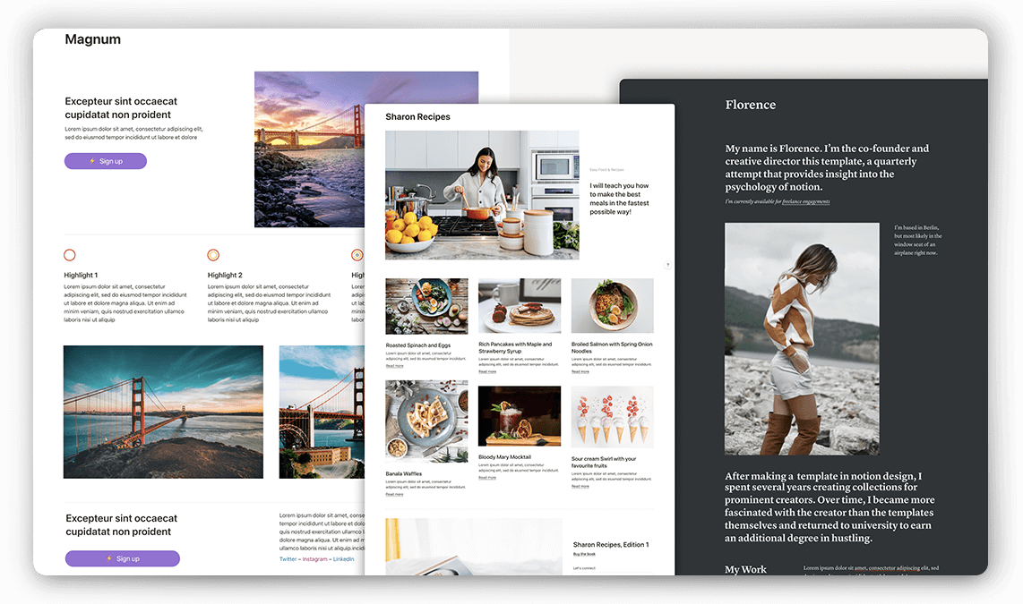 Notion Landing Pages