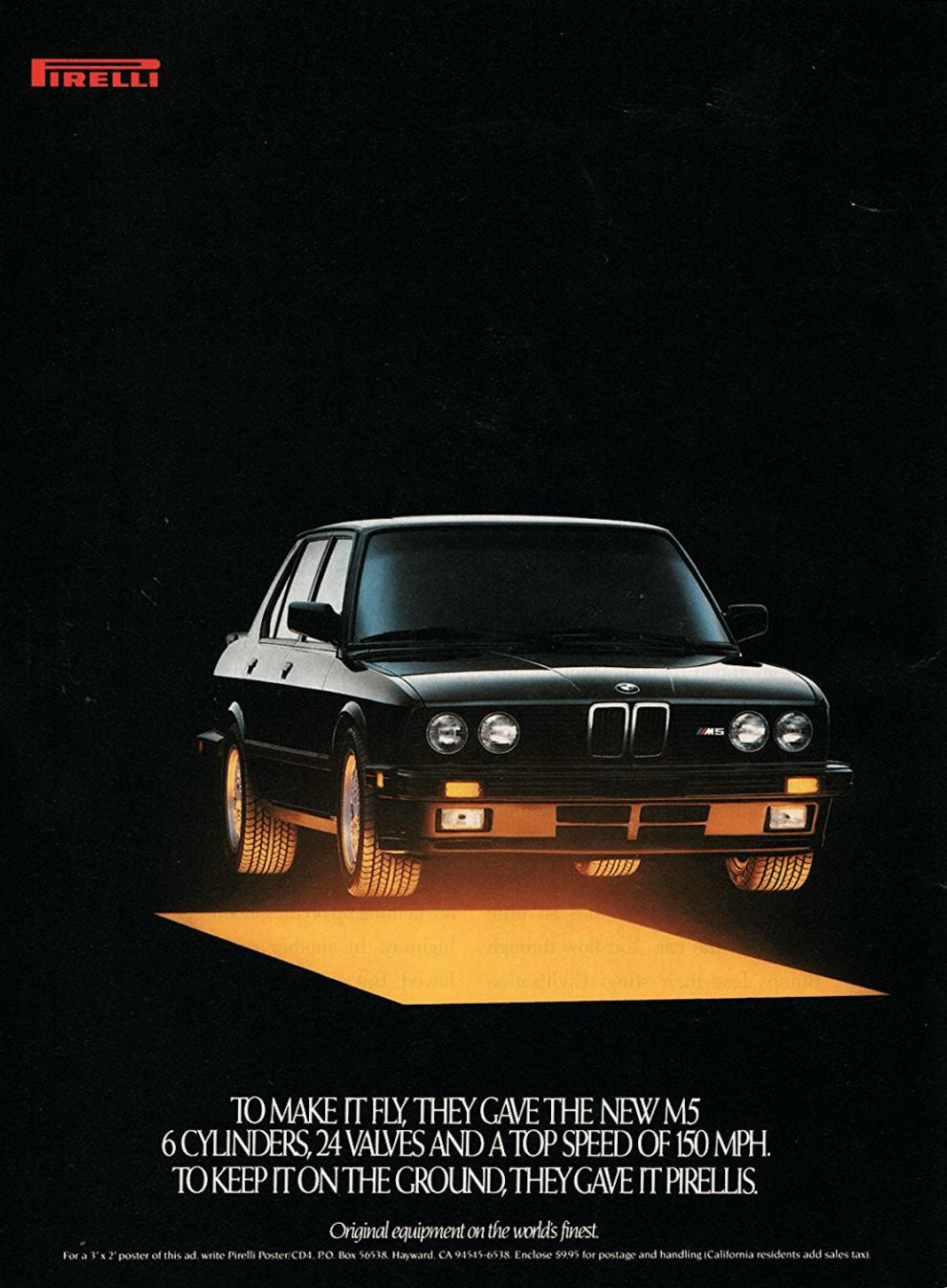 BMW x Pirelli Retro Car Ad
