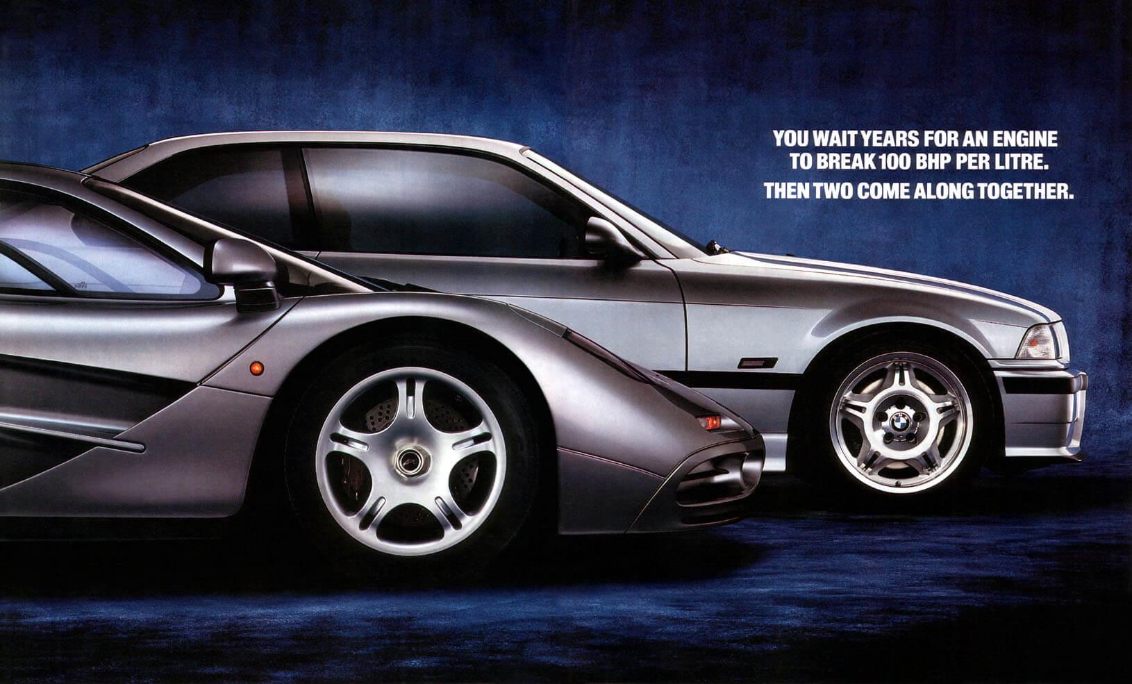 McLaren F1's Mighty BMW Engine Car Ad