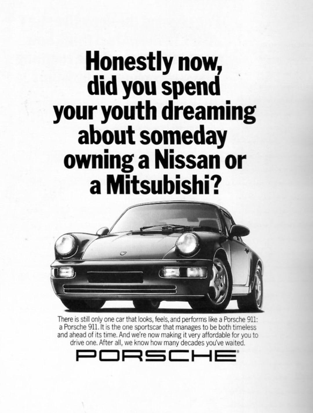 Dreaming Vintage Porsche Car Ad