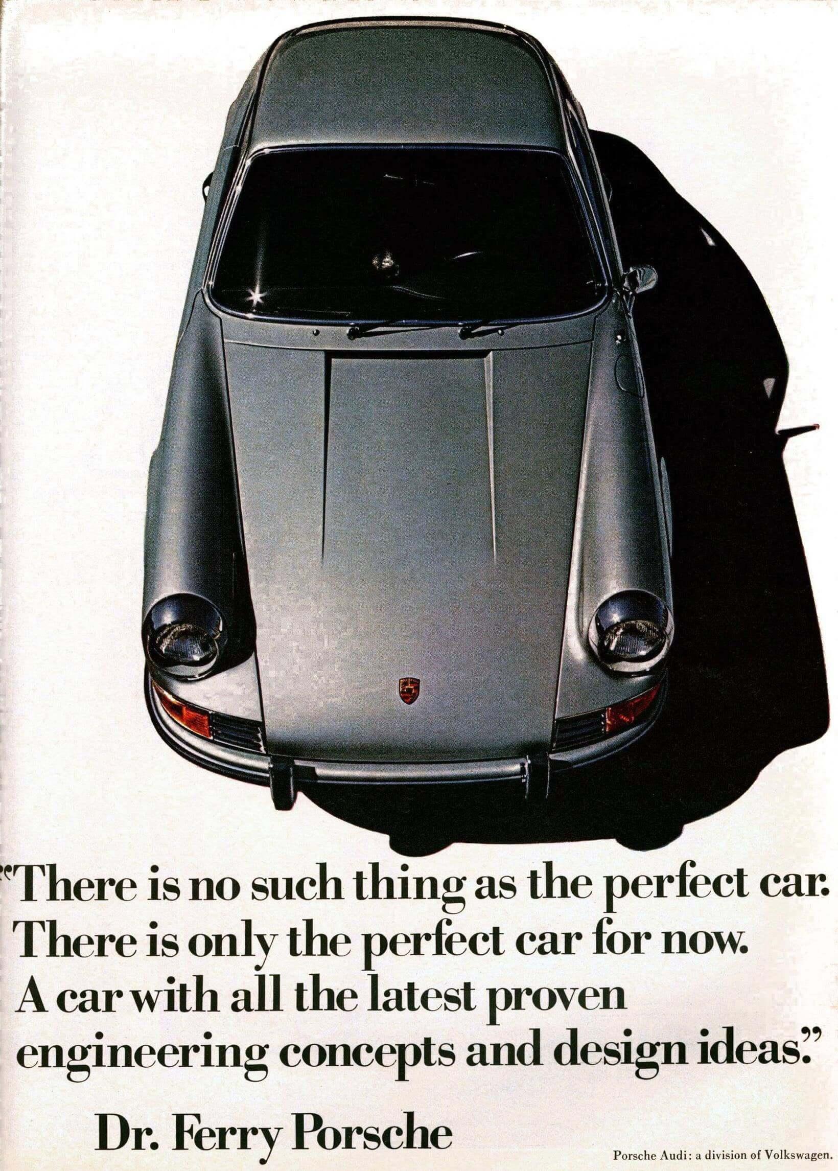 Ferry Porsche's Perfect Vintage Automotive Ad