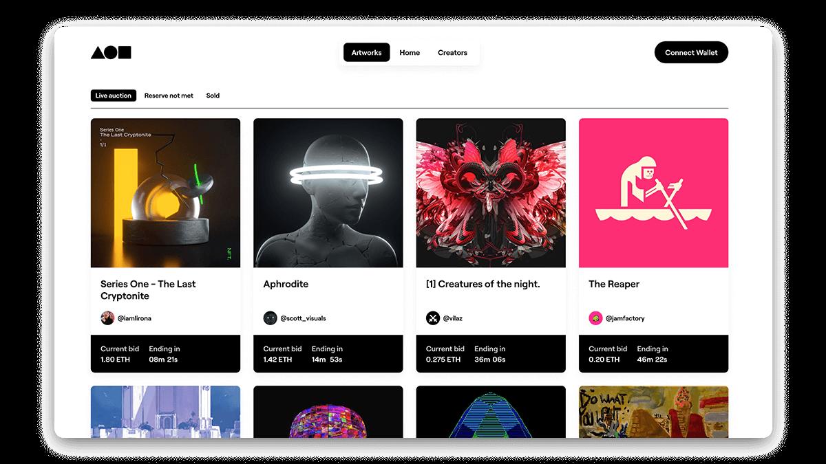 Foundation Community NFT Marketplace for Digital Artists