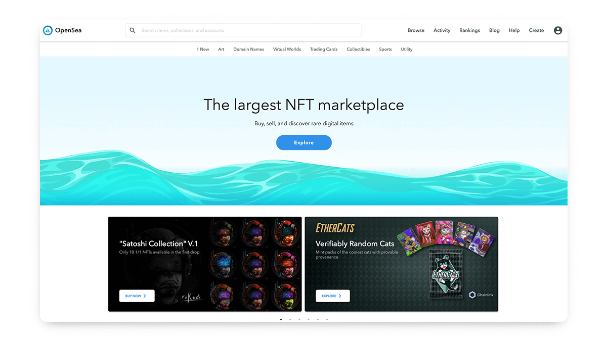 OpenSea - Best NFT Marketplace