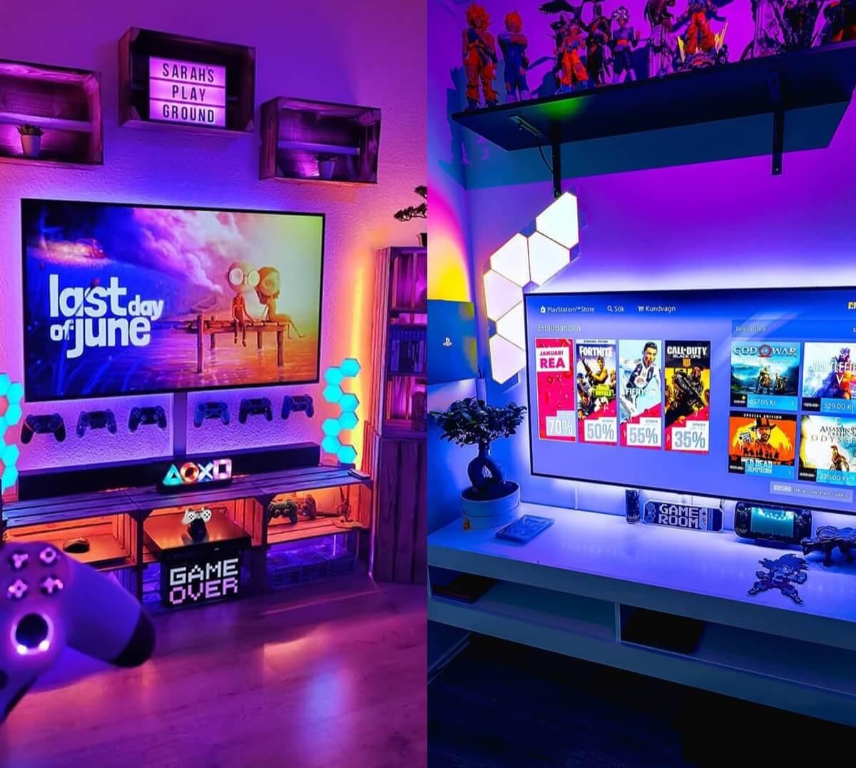 Gaming TV LED Backlighting Ideas