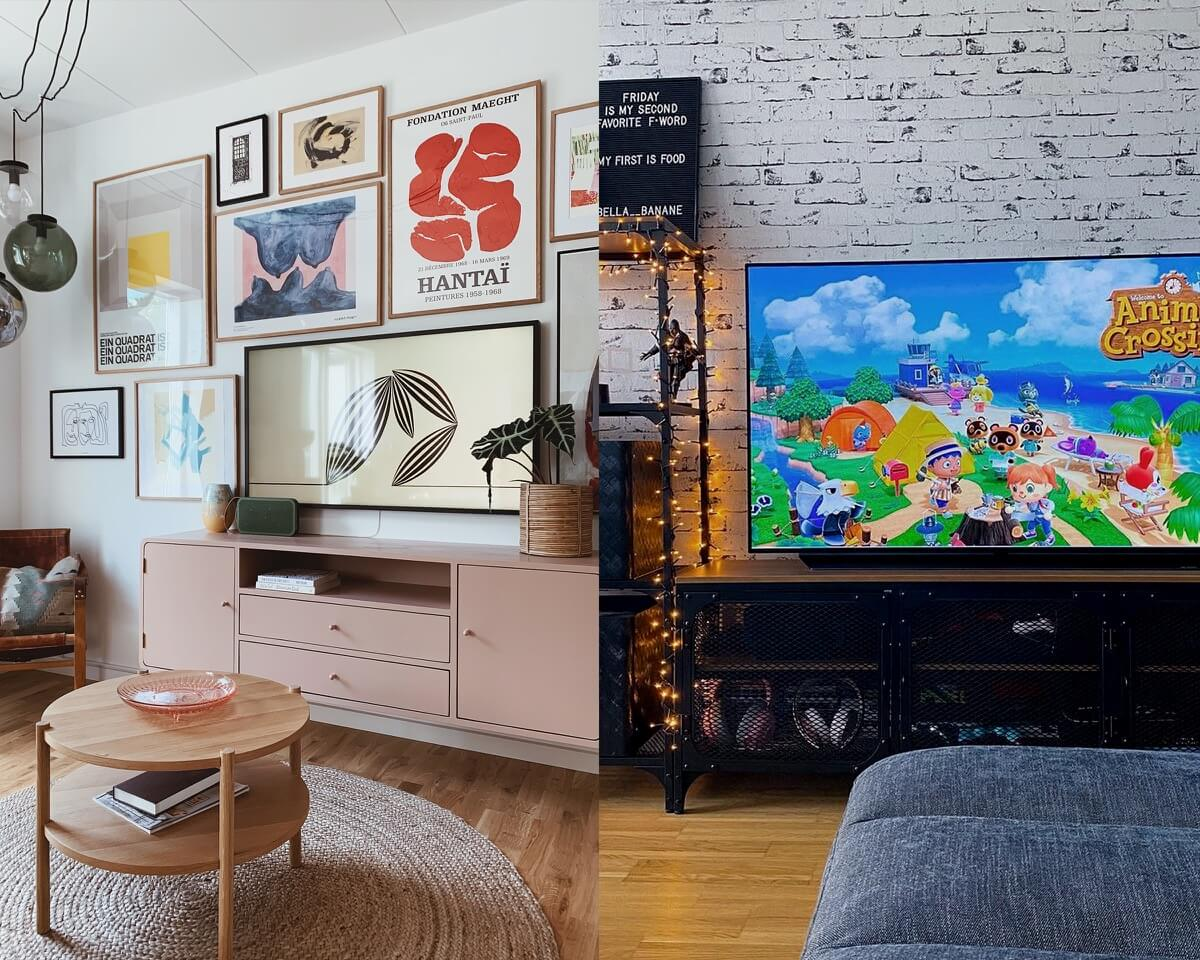 Aesthetic TV Stand for Gaming