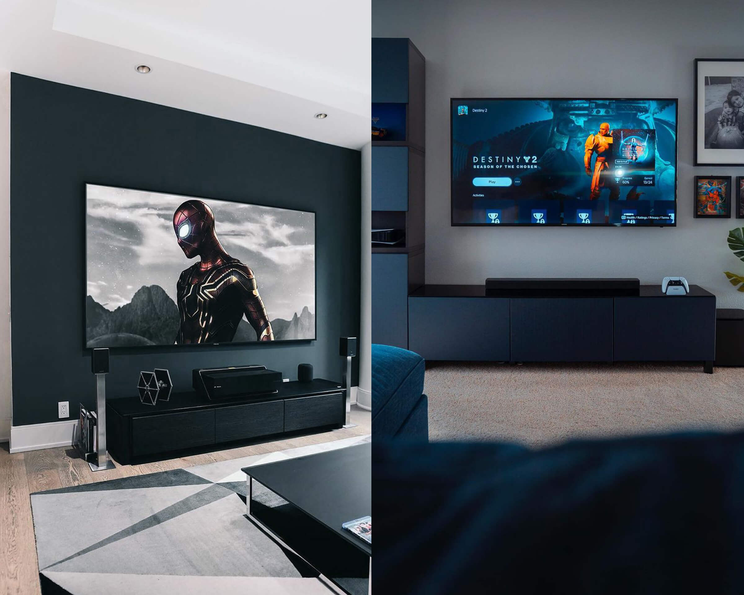 All Black Gaming TV Stand