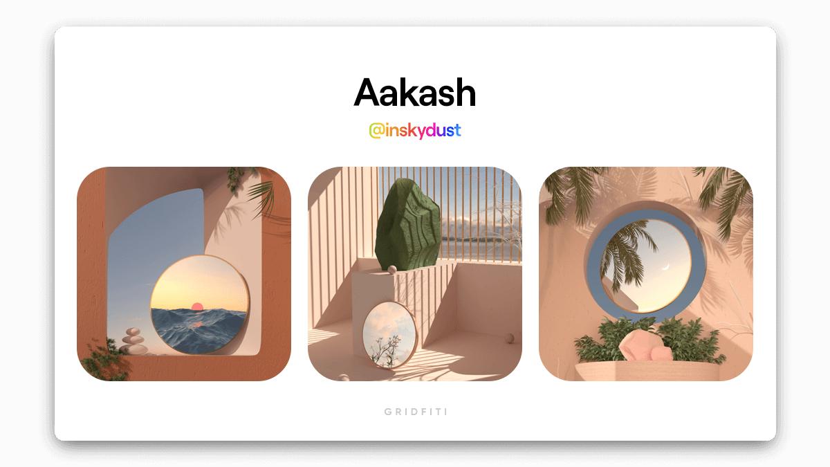 Aakash: Serene 3D Loops NFT Art